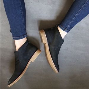 Dolce Vita Nubuck Black Suede Ankle Boots